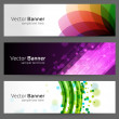 Abstract trendy vector banner or header set eps 10 — Stock Vector #25573629