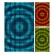 Set of abstract mosaic 3d amplitude waves. Vector background eps 10. — Stock Vector #25574597