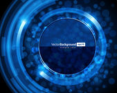 Abstracte retro technologie cirkels vector achtergrond — Stockvector
