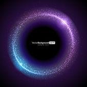 Resumo de fundo vector tecnologia círculo de queima — Vetorial Stock