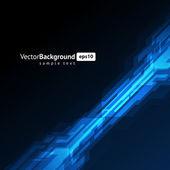 Abstraktní retro technologie linky vektorový pozadí. eps 10 — Stock vektor