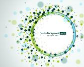 Abstracte technologie cirkels vector achtergrond — Stockvector