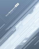 Technologie abstraite lignes se déplacent vers le haut fond — Vecteur
