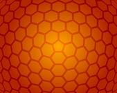 Abstrakt orange honeycomb vektor bakgrund — Stockvektor