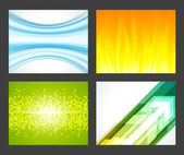 Abstract trendy vector backgrounds set eps 10 — Stock Vector