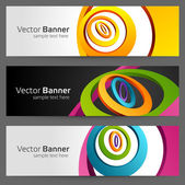 Abstract trendy vector banner or header set eps 10 — Stok Vektör