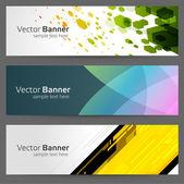 Banner vector moderno abstracto o encabezado sistema eps 10 — Vector de stock