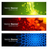 Abstract trendy vector banner or header set eps 10 — Stock Vector