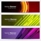 Abstract trendy vector banner or header set eps 10 — Stock Vector