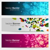 Abstrato moderno vetor banner ou cabeçalho definido eps 10 — Vetorial Stock