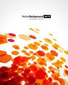 Hexágono mosca abstrato formas de fundo vector — Vetorial Stock