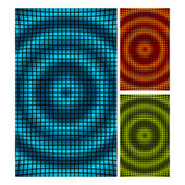 Set of abstract mosaic 3d amplitude waves. Vector background eps 10. — Stock Vector