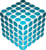 Abstract 3d cube — Stock Vector