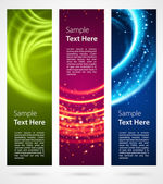 Abstract trendy vector banner vertical set eps 10 — ストックベクタ