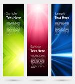 Abstract trendy vector banner vertical set eps 10 — Stock Vector