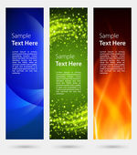 Abstract trendy vector banner vertical set eps 10 — Stok Vektör