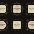 Set vintage frames vector background — Stock Vector