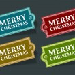 Christmas labels set with snowflake shape vector illustration Eps 10. — Stockvectorbeeld