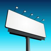 Billboard with blue sky vector background — Stock Vector