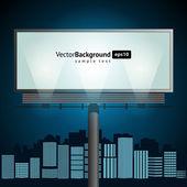 ビルボード都市の地平線のベクトルの背景 — ストックベクタ