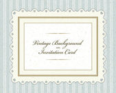 Vintage invitation greeting card with ornament and old textured pattern. Vector background Eps 10. — Cтоковый вектор