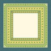 Retro wenskaart frame met ornament. vector achtergrond eps 10. ontwerpsjabloon. — Stockvector