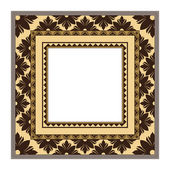 Retro greeting card frame with ornament. Vector background Eps 10. — Stock Vector