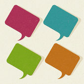 Retro speech bubbles set vector illustration Eps 10. — Vettoriale Stock