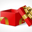 Gift box with bow isolated on white. Vector illustration eps 10. — Stock Vector #25632545