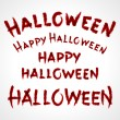 Royalty-Free Stock Vector Image: Hand drawn Halloween messages lettering. Vector design elements set eps 10.