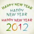 Hand drawn Happy new year 2012 messages lettering. Vector design elements set eps 10 — Imagen vectorial