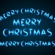 Neon light Merry Christmas messages lettering. Vector design elements set eps 10 — Stock Vector