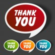 Vector thank you message stickers set. Transparent shadow easy replace background and edit colors. - Image vectorielle