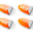 Vector sale stickers set. Easy replace background and edit colors. - Imagen vectorial