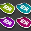 Vector new message stickers set. Easy replace background and edit colors. — Stock Vector