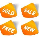 Vector sale stickers set. — Stock Vector
