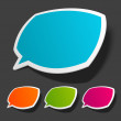 Speech bubbles set vector illustration Eps 10. — Stock Vector