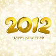 Happy new year 2012 3d message vector background. Eps 10. — Imagens vectoriais em stock