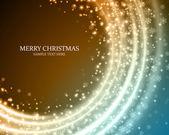 Vánoční pozadí vločky a lehké vektorový obrázek. eps 10. — Stock vektor