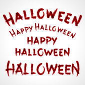 Hand drawn Halloween messages lettering. Vector design elements set eps 10. — Stock Vector