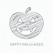 Hand drawn Happy Halloween message lettering on paper. Vector background eps 10. — Stock Vector