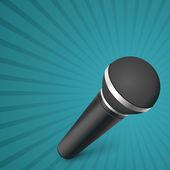 Vector microphone illustration — Stock Vector