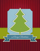 Christmas tree applique vector background. Eps 10. — Stock Vector