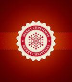 Weihnachts-etikett mit schneeflocke-vektor-bild. eps 10. — Stockvektor