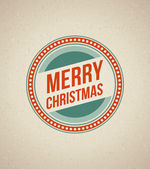 Vintage Christmas Card. Merry Christmas lettering — Stockvektor