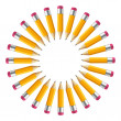 Circle from pencils vector background. Eps 10. — Stock Vector #25692537
