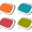 Speech bubbles set vector illustration Eps 10. — Stok Vektör