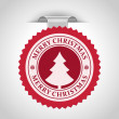 Christmas label with snowflake shape vector illustration Eps 10. — Stock Vector