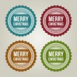 Stock Vector: Christmas labels set with snowflake shape vector illustration Eps 10.
