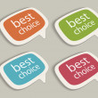 Retro speech bubbles set with best choice message vector illustration Eps 10. — Vecteur